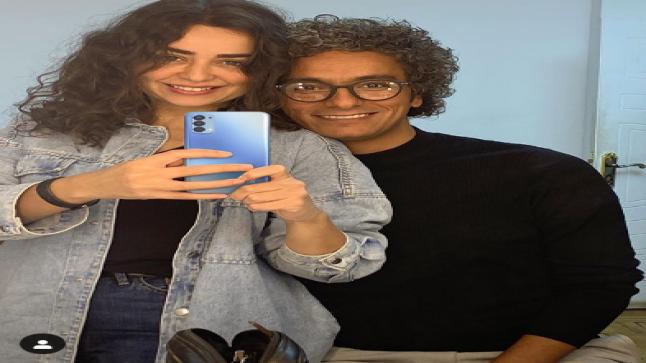 ظهور بدون مكياج.. هبة مجدي مع زوجها: صباح الجمال والحب